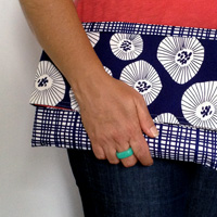 make an easy envelope clutch