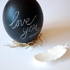 make chalkboard eggs for easter