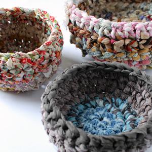 Crochet Fabric baskets