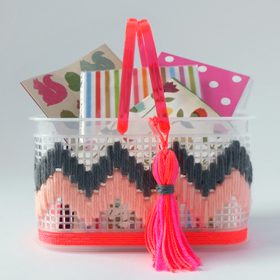 make an embroidered basket
