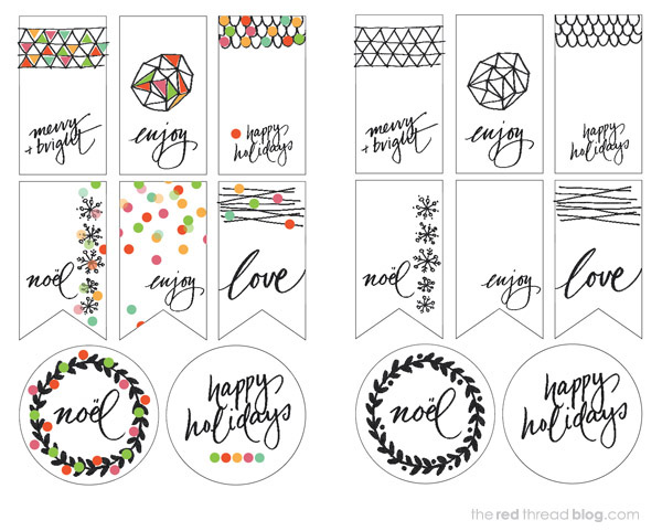the red thread printable tags overview