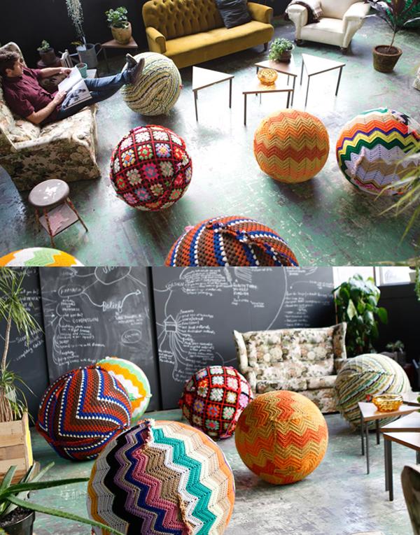 Third Drawer Down Crochet Balls via the red thread