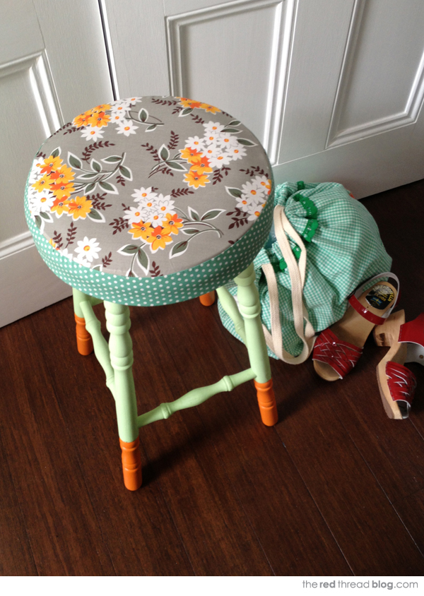 the red thread stool makeover