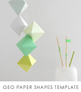 the red thread geo paper shapes