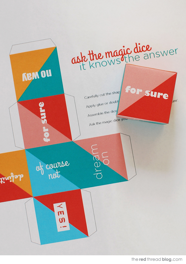 the red thread magic dice printable
