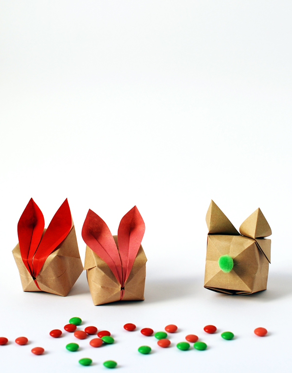the red thread origami bunnies tail