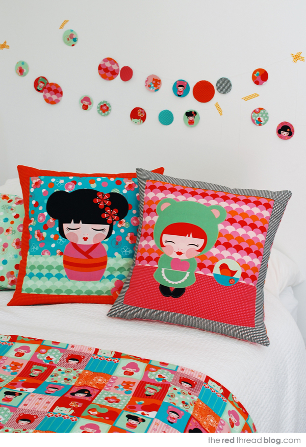 Hello Tokyo by the red thread cushions
