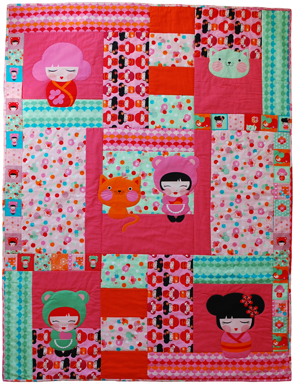 Hello Tokyo by the red thread quilt