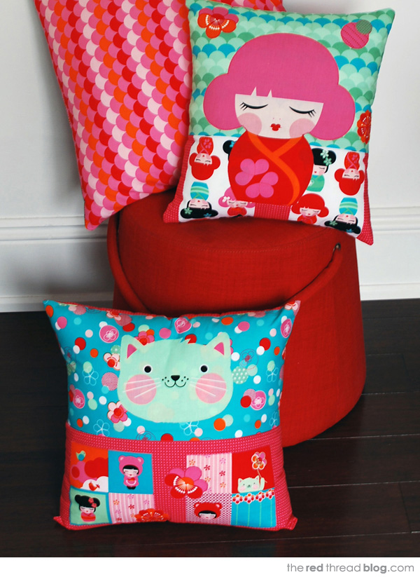 Hello Tokyo by the red thread small cushions