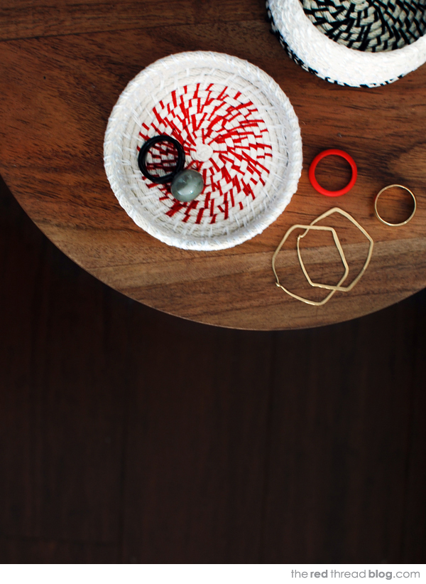 the red thread rope coil bowl tutorial