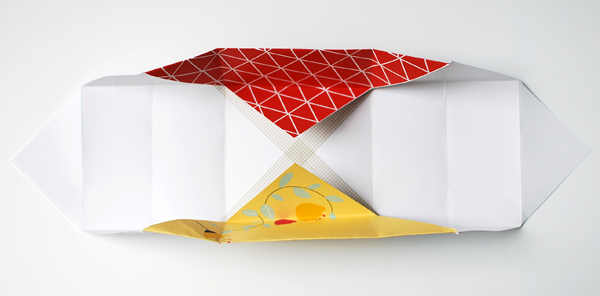 the red thread patchwork origami box step4