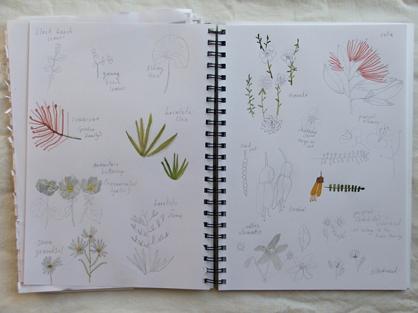 Melissa Wastney sketchbook via the red thread