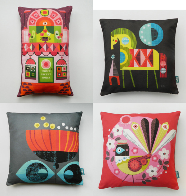 Ellen G cushions via the red thread