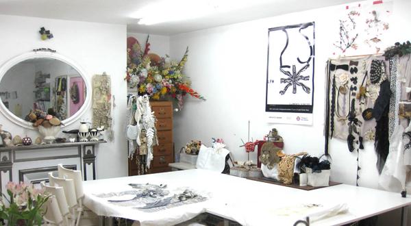 Karen Nichol studio via the red thread