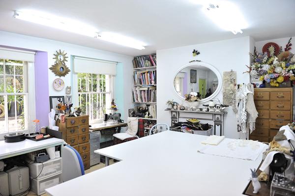 Karen Nichol workspace via the red thread