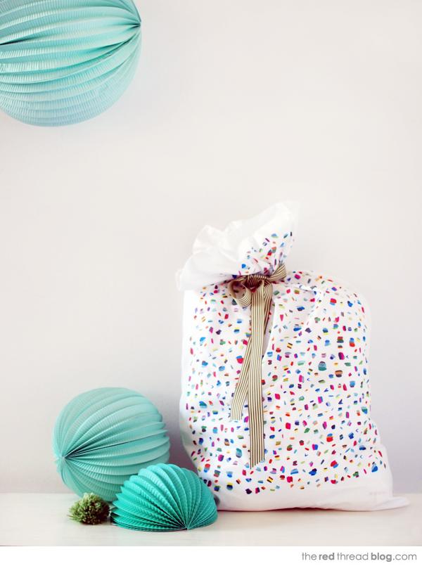 pillowcase wrap via the red thread