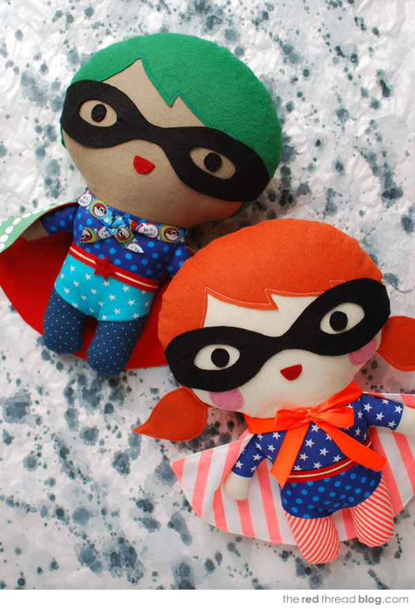 how to make a super hero softie via the red thread