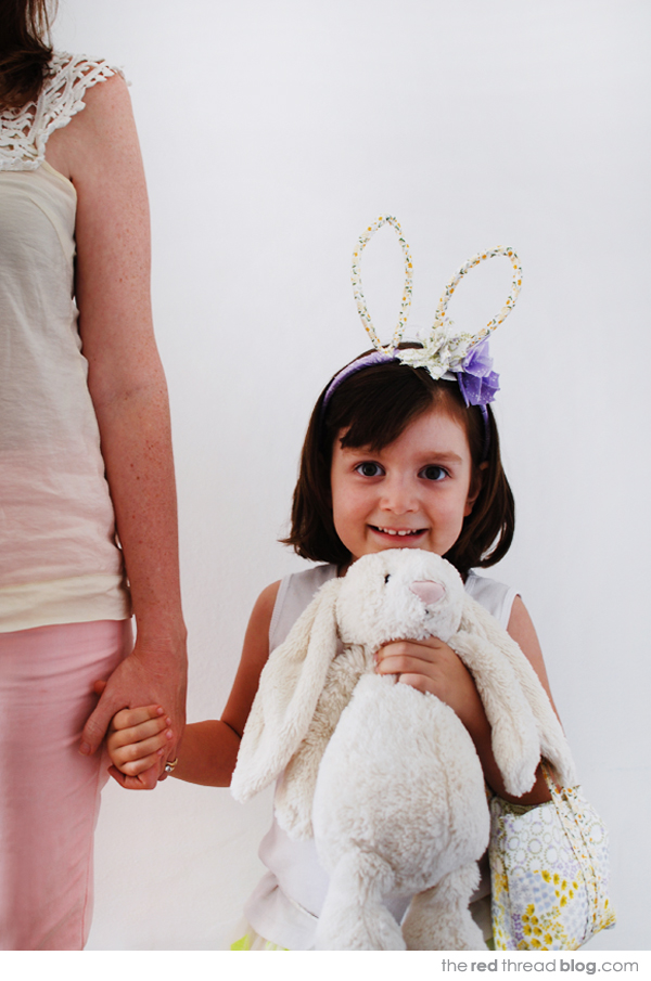 the red thread Easter bunny dressup