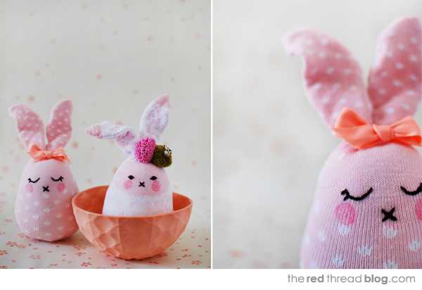 the red thread sock easter bunny tutorial