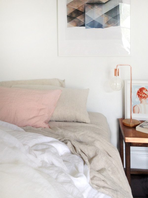 the red thread linen bedding love