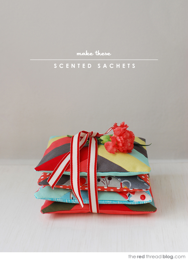 the red thread scented sachets tutorial