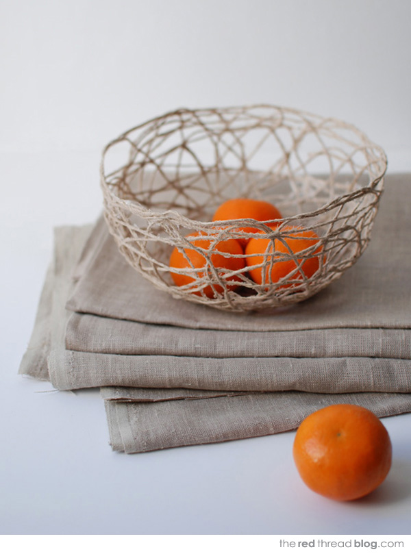 the red thread string bowl tutorial