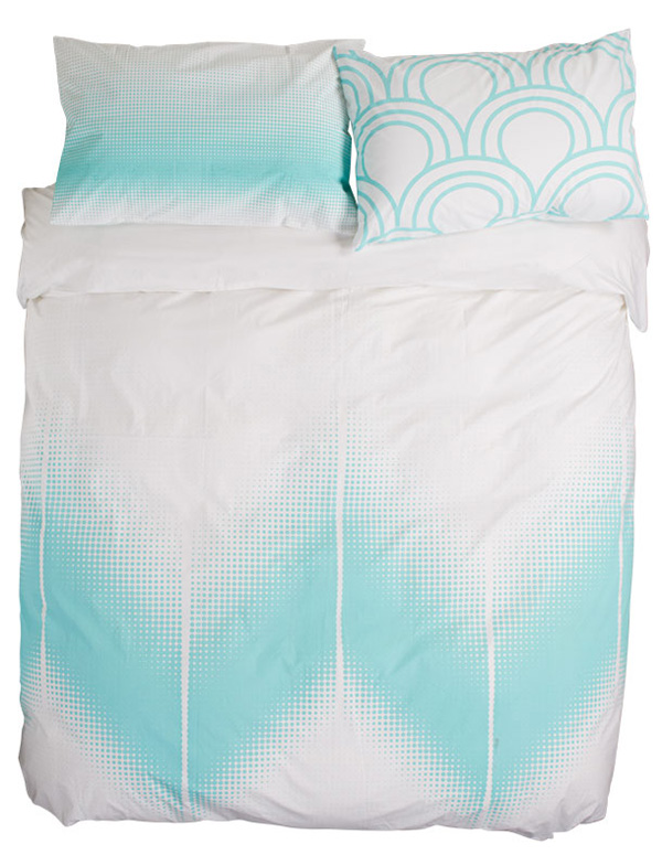 tinker bed linen aqua
