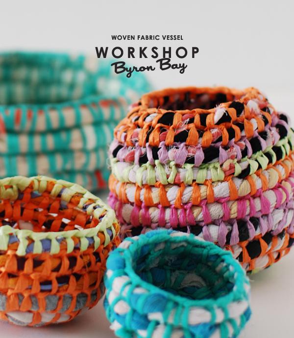 Lisa Tilse fabric vessel workshop Byron Bay